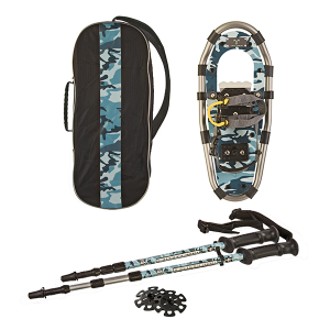 Yukon Charlie's Junior Series Snowshoe Kit for Kids: Blue