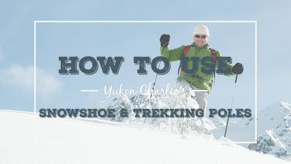 How to use Yukon Charlie's Snowshoe & Trekking Poles (video)