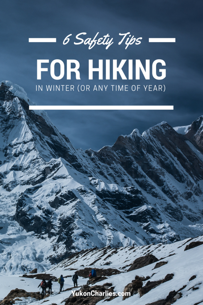 Six hiking safety tips for winter
