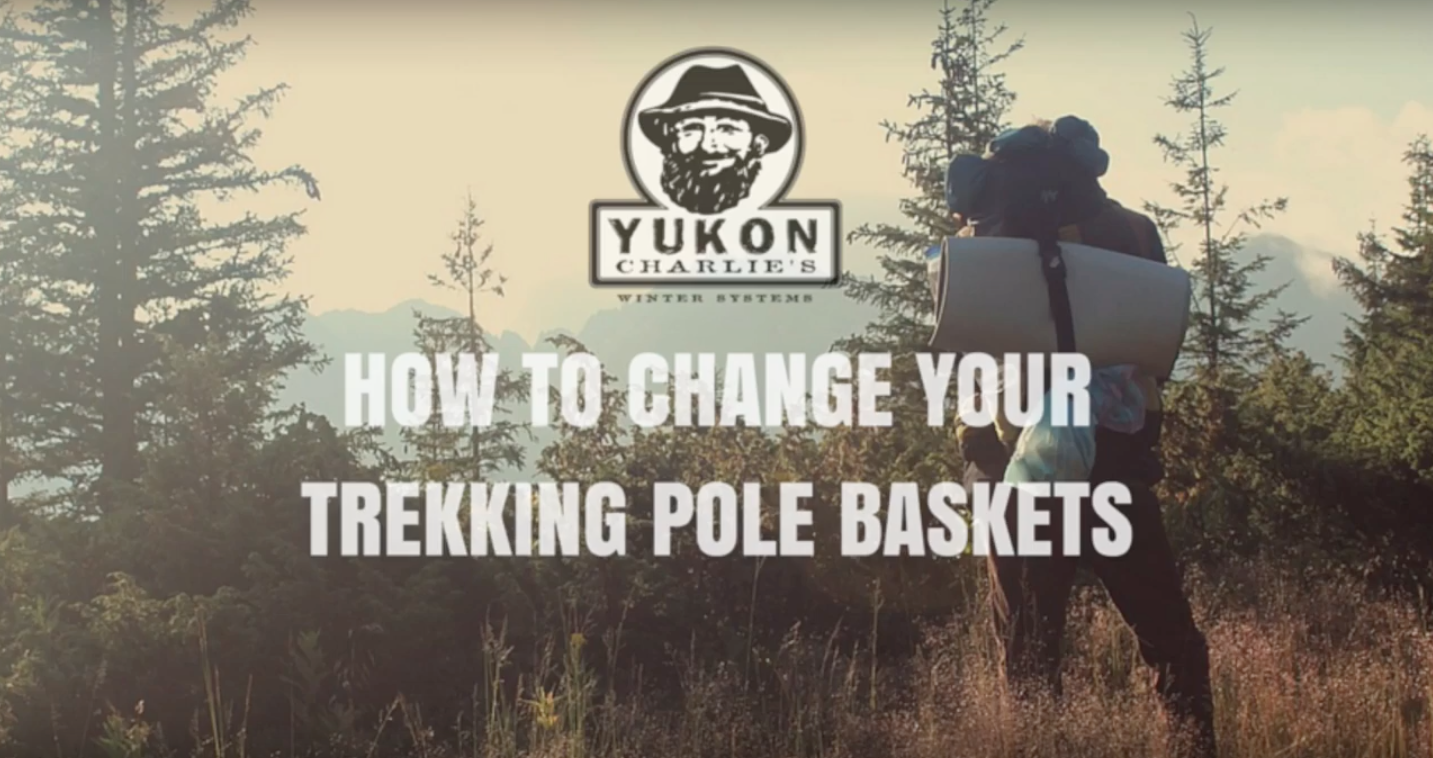 How to change your trekking pole baskets